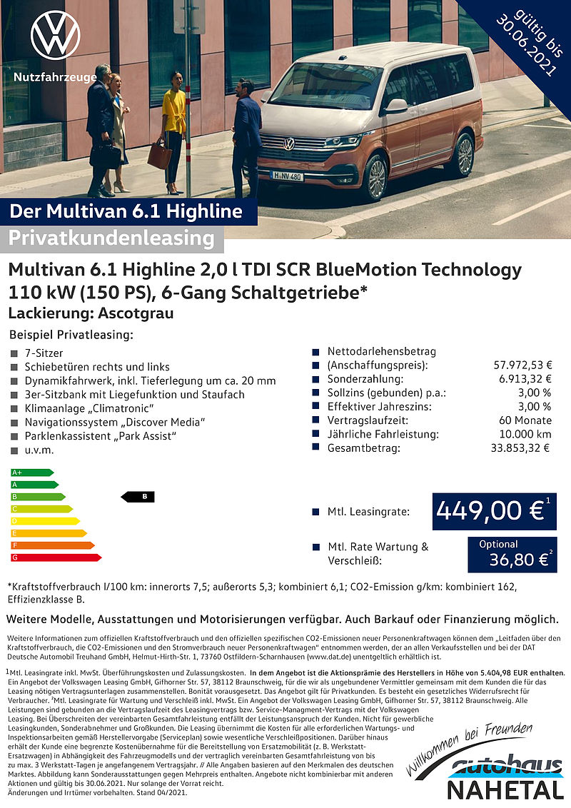 Der Multivan 6.1 Highline