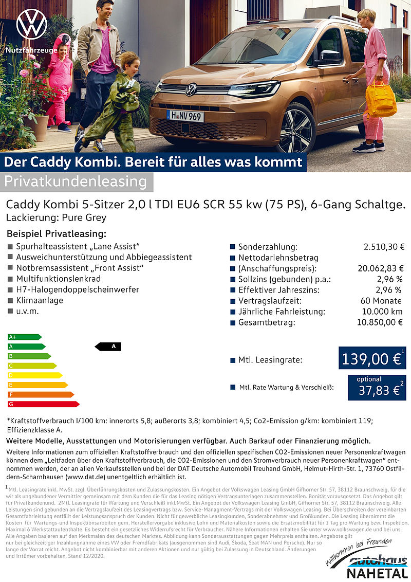 Der Caddy Combi